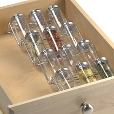 The Container Store > In-Drawer Spice Rack Set