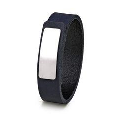 Wear Clint - Tuigleren armband (18mm / donkerblauw) met RVS-sluiting. Een stoer design voor mannen en vrouwen! Rvs, Fitbit, Ready To Wear, How To Wear, Design, Fashion, Wristlets, Moda, Fashion Styles