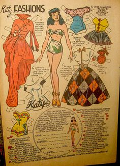 Katy Keene Paper Doll by Pennelainer, via Flickr, I remember playing with these