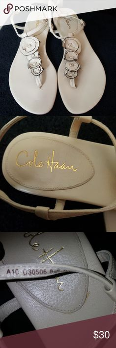 Cole Haan nude Nike air sandals Perfect condition. Size 8 1/2. Nude color to match any outfit Cole Haan Shoes Sandals