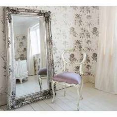 Double-framed Marquise Silver Mirror