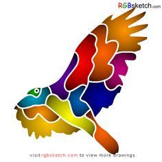 RGBsketch.com: How to draw California Condor - step by step - kid...