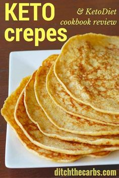 These are the most versatile keto crepes I have ever made. Take a look at the easy recipe and read my book review for Ketodiet cookbook. | ditchthecarbs.com via @ditchthecarbs