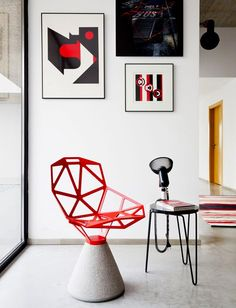 Concrete version of the Magis Chair One by Konstantin Grcic