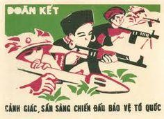 Vietnam War: đoàn kết cảnh giác sẵn sàng chiến đấu bảo vệ tổ quốc (solidarity vigilance combat readiness to defend our country)