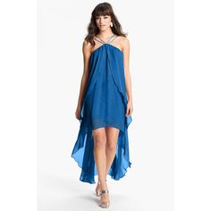 Hailey by Adrianna Papell High/Low Chiffon Dress (Online Exclusive) (685 DKK) found on Polyvore
