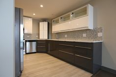 Newly remodeled modern kitchen in Lakeview, IL Kitchen Remodeling, Kitchen Cabinets, Modern, Home Decor, Kitchen Cupboards, Homemade Home Decor, Kitchen Renovations, Decoration Home, Kitchen Shelves
