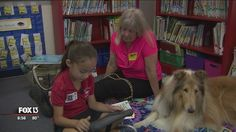 Therapy dog helps children overcome fear of reading