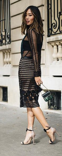 A Self-Portrait Midi Dress