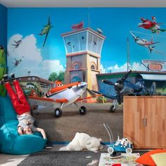 Superbe Disney Planes Airport Wallpaper