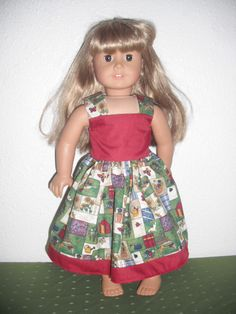 18 Inch American Girl Doll Dress Garden Print