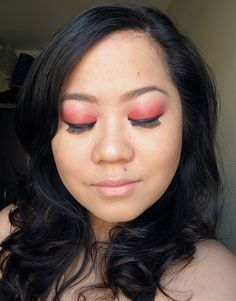A quick tutorial of my red eyeshadow look!