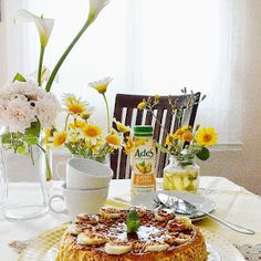 COMO PREPARAR EN CASA LA EXQUISITA TARTA BAKEWELL - TuvesyyoHago Tarta Bakewell, Table Decorations, Home, Sweets, Eating Clean, Dessert, Dinner Table Decorations, Center Pieces