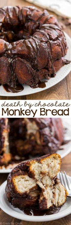 This Chocolate Monkey Bread is the BEST easy brunch recipe! Make it for breakfast or dessert and get your chocolate fill. [Yes. Please. #FairTrade]