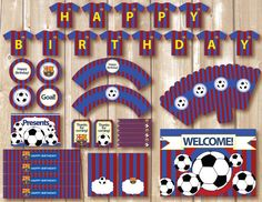 Soccer Party Package. Instant download. by Alapipetuadesign - Barcelona printables