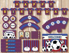 Kit de futbol imprimible para cumpleaños por AlapipetuaDesign