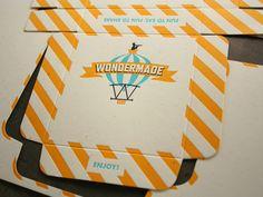 Letterpress marshmallow packaging for Wondermade, via The Dieline