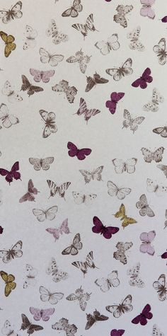 wallpaper butterfly bronze/mul