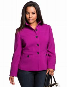 Banded Mod Jacket   Plus Size Jackets & Blazers   eloquii by THE LIMITED