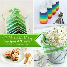The Crafted Sparrow: St. Patrick's Day Recipes & Treats