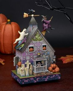 Jim Shore Halloween Haunted House 2010 Tonight Your Fears Take Flight