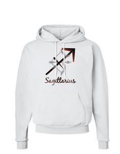 TooLoud Sagittarius Symbol Hoodie Sweatshirt