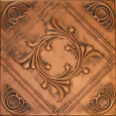 antique copper ceiling tile, Styrofoam replica. Ohh, we could so do this with glue and paint!!