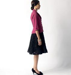 B5962, Misses'/Misses' Petite Jacket and Skirt