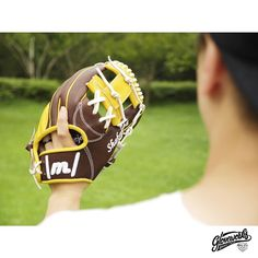 #Gloveworks x Shakaloha - Choose web you like from 24 different styles at Gloveworks.net, or design your own web! We will make it for you. Whatever bakes your cake!   #Baseball #BaseballGlove #CustomGlove #MLB #Glove