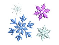 Snowflakes Sparkle Bursts Set Christmas New Year by EmbroideryLand