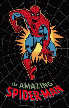 """SPIDERMAN """"The Amazing Spiderman"""" Retro Look Poster Stand-Up Display…"""