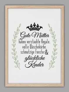 """GUTE MÜTTER"" Kunstdruck von Smart-Art Kunstdrucke auf DaWanda.com"