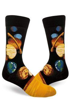 Crazy Socks, Cool Socks, Space Socks, Mens Novelty Socks, Rosie The Riveter, Designer Socks, Walk On, Solar System, Outlander