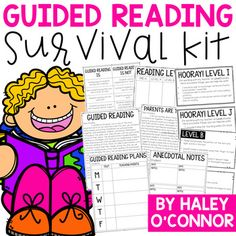 I created this product when I realized how overwhelming guided reading instruction can be. Many teachers are asked to implement guided reading without support or training on how to do it. I believe that guided reading is one of the most powerful times of the day, and I wanted to make sure teachers had simple and effective tools at their fingertips to use!