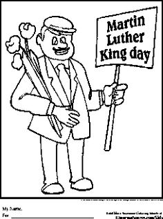 martin luther king day coloring pages black history - Hobbit Dwarves Coloring Pages