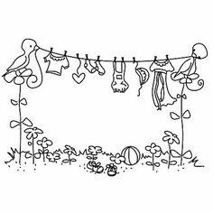 bird clothesline
