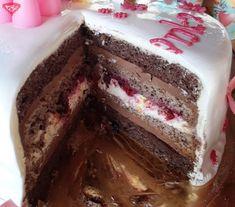 Torta s mascarpone - čokoládovou plnkou Mousse, Coffee Love, Greek Recipes, Tiramisu, Ham, Cake Recipes, Cheesecake, Food And Drink, Cooking Recipes