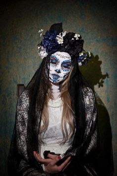 day of the dead headpiece by KIKADREAM on Etsy