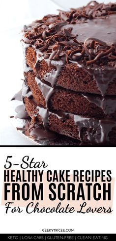 Clean Eating No Sugar Healthy Chocolate Cake Recipes For Those On