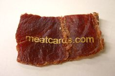 Meat Business Cards? Can I have another?