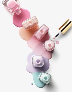Hintergrundbilder Pastell - Cosmetics 2 by Yasu - Hintergrundbilder Art Nail Salon Design, Spring Nail Colors, Spring Nails, Pastel Colors, Dark Nails, Red Nails, Pastel Nails, Nail Pink, Polish Nails
