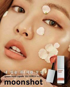 * Jennie*    Cream Paint: https://moonshot-cosmetics.com/en/goods/lip/lightfit
