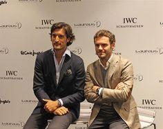 Juan Mata y Rafael Medina acto presentación reloj IWC