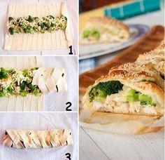 hamurdan kafes yapma Brocolli, Spanakopita, Pasta Salad, Rolls, Bread, Snacks, Ethnic Recipes, Food, Pointers