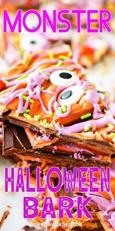 Looking for a fun Halloween Bark, Halloween Desserts, Easy Halloween, Best Party Food, Party Food And Drinks, Best Dessert Recipes, Fun Desserts, Chocolate Candy Melts, Monster Cupcakes