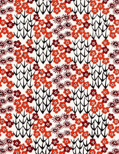 Japanese Patterns in Red Japanese Textiles, Japanese Patterns, Japanese Prints, Japanese Design, Motifs Textiles, Textile Patterns, Textile Prints, Print Patterns, Surface Pattern Design