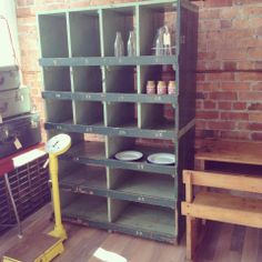 Industrial numbered pigeon hole cabinet- The General Store