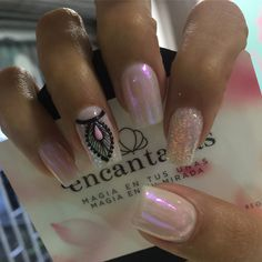 Uñas Fancy Nails, Bling Nails, Love Nails, Purple Nails, Green Nails, Shabby Chic Nails, Indian Nails, Geometric Nail, Perfect Nails