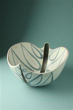 Bowl  Designed by Stig Lindberg for Gustavsberg, 1950's. Sweden.