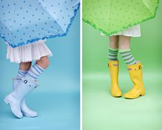 Love this rain or shine photo shoot idea.  Cute umbrellas and rain boots.  Photo by Shannon Sewell Photography.